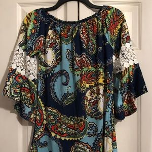 WinWin Stretch Boho Hippie Tunic Top S/M